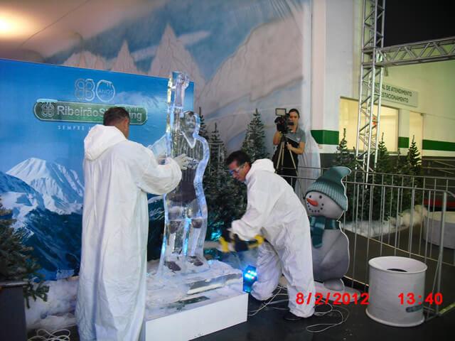 Arte em Gelo para Festas
