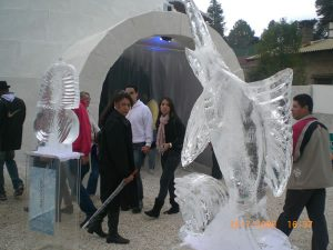 Exposição Casa Feita de Gelo